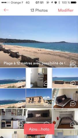 Magnifique T2 Agosta bord de mer - Albitreccia - Apartament
