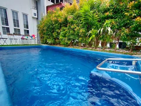 Private Pool Villa/BBQ/Jacuzzi/Klebang Beach 14pax