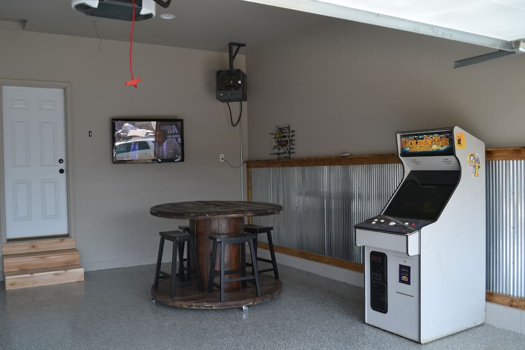 Garage Rec Room also features Spool Bar table and Golden Tee Fore Arcade!