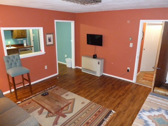 Your own private living room, that adjoins your private kitchen. Smart TV, Dish Network, and WiFi.