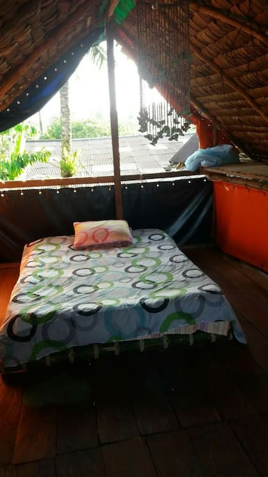 Your room, with a double bed