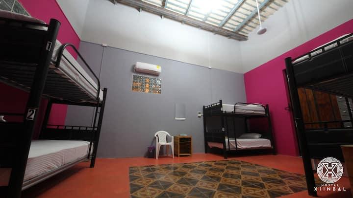 Xiinbal hostal cuarto sólo para mujeres A/C