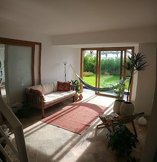 Sala de estar. Sofá-cama (solteiro)
