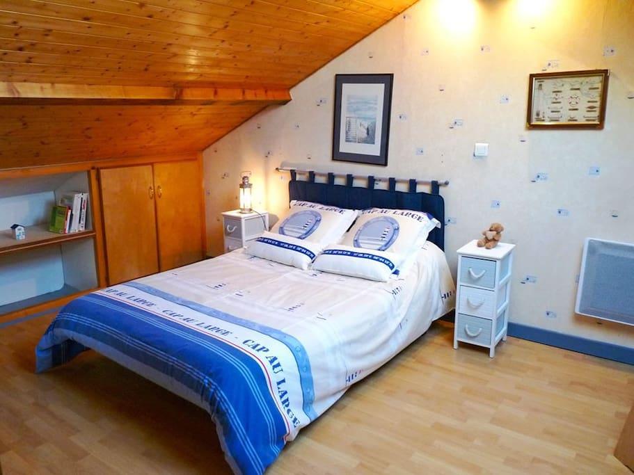 La chambre confortable, calme, et reposante