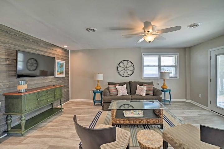 Updated Carolina Beach Home w/Porch-Walk to Ocean!