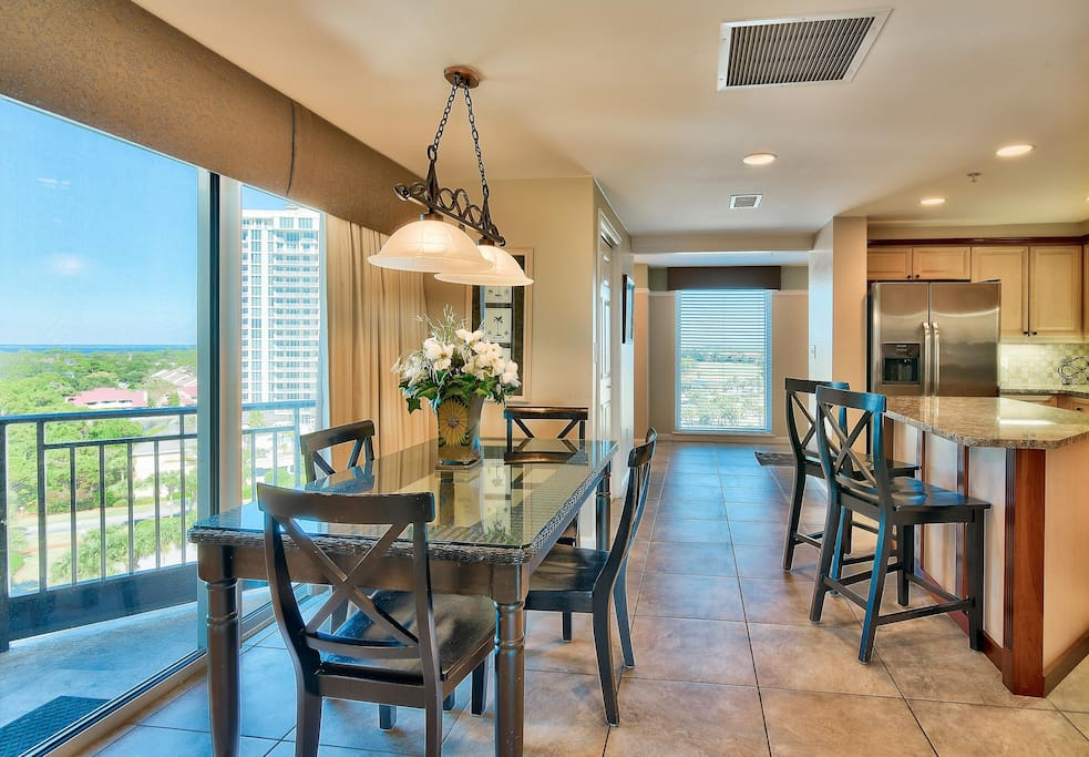 Dining Area with 2nd Balcony