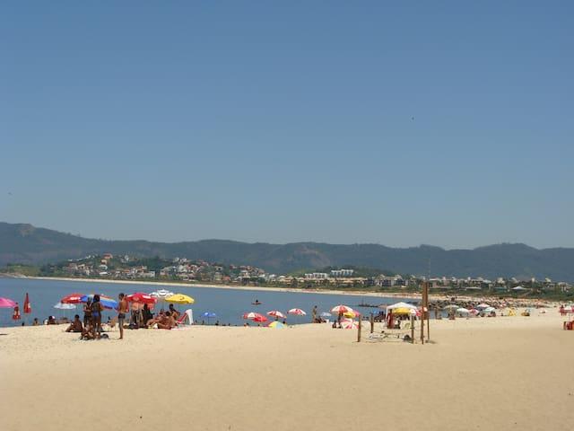 vista total da praia