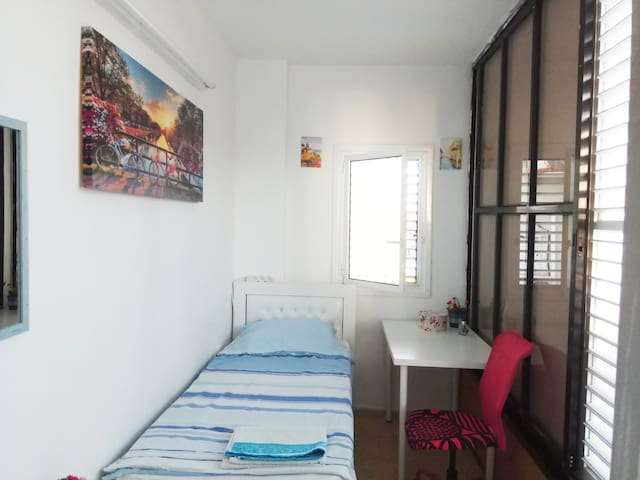 Stylish room 100 meters from the Mediterranean Sea