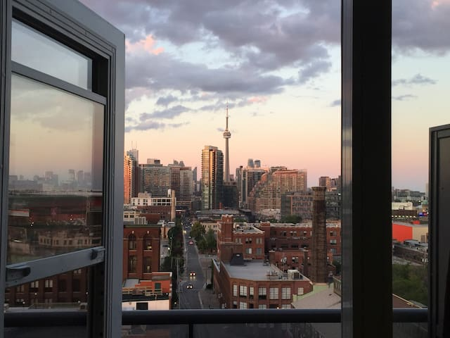 Liberty Village Apartment with City Skyline View
