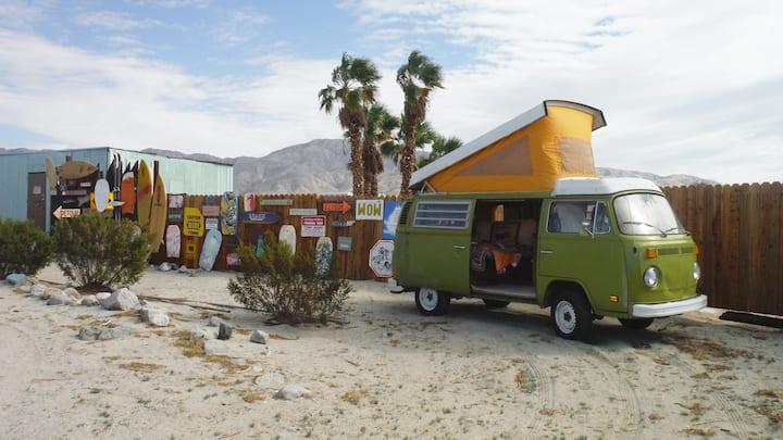 campout vintage vw bus  photoshoot perfect