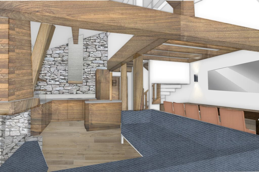 artists impression of new living area