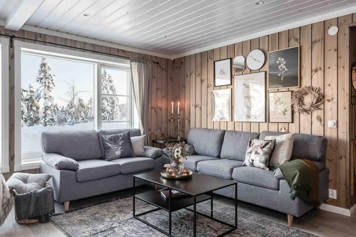 Nybyggd fjällstuga på vackra Branäsberget