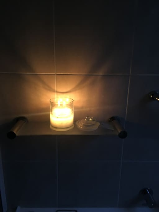 Bubble bath in candle light...
