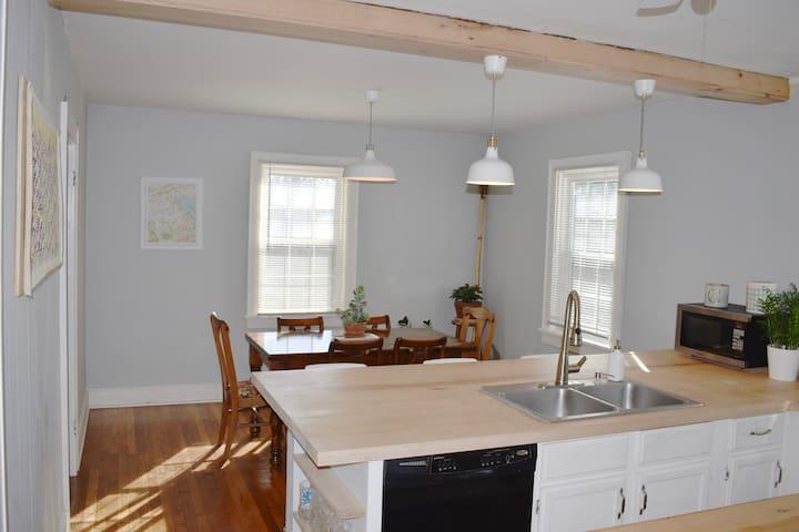 Open Floor Plan--has kitchen overlooking dining room.