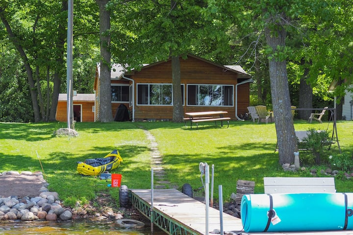 Serene Cabin on Lake Pokegama w/ Dock & Fire Pit!