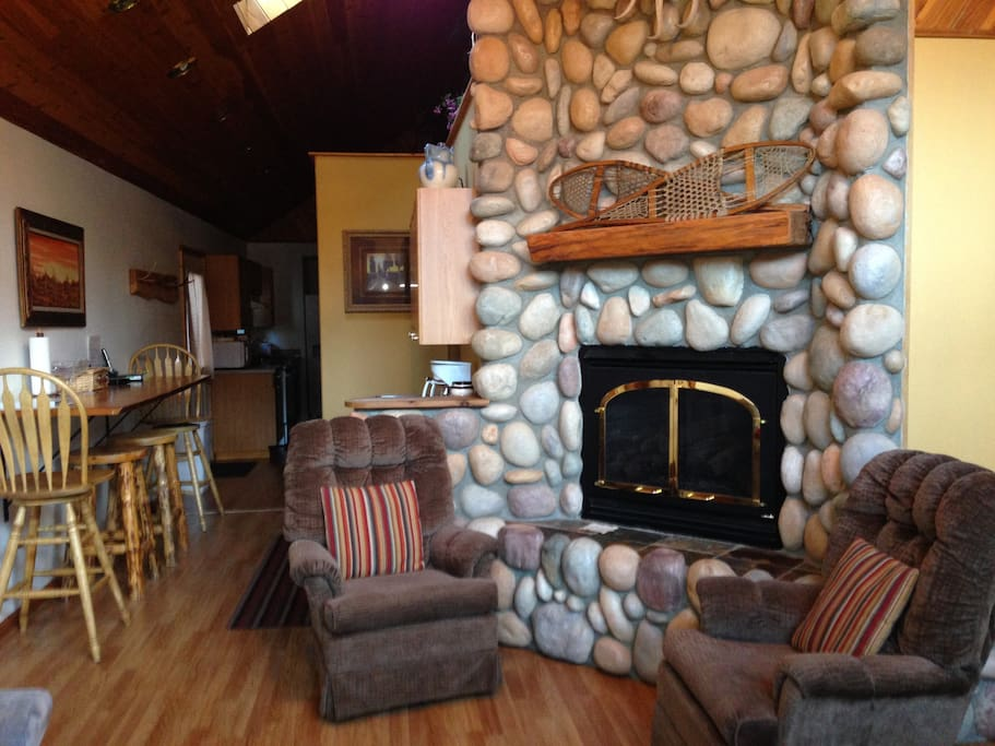 Gas Rock fireplace