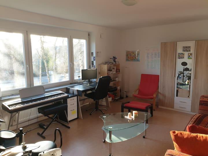 Große, helle Wohnung mit Balkon in zentraler Lage