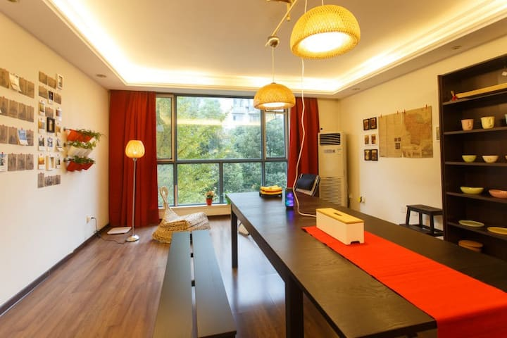 Spacious single bedroom with balcony near Kazimen - Nanjing - Apartment