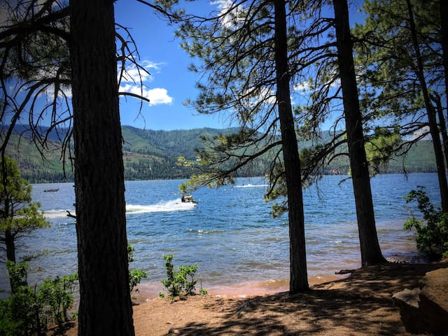 Lake/Mountains/Trees - Birch Cabin