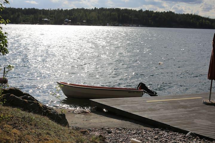 Aktersnurra / roddbåt ingår