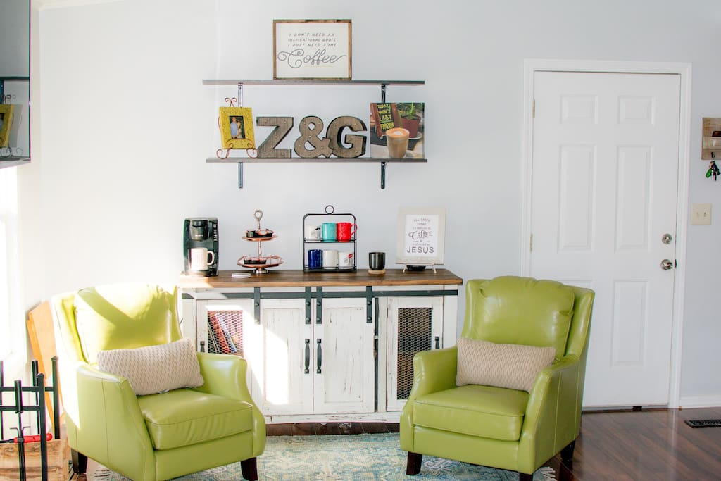 A sweet little coffee nook to relax and unwind!