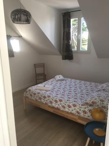 Chambre individuelle avec lit Queen size