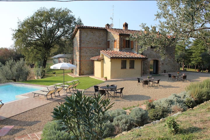 Beautiful room for 2 people with WIFI, pool, A/C, TV and parking, close to Arezzo