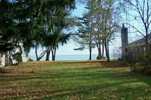 Your view of Lake Huron from the front of the cottage