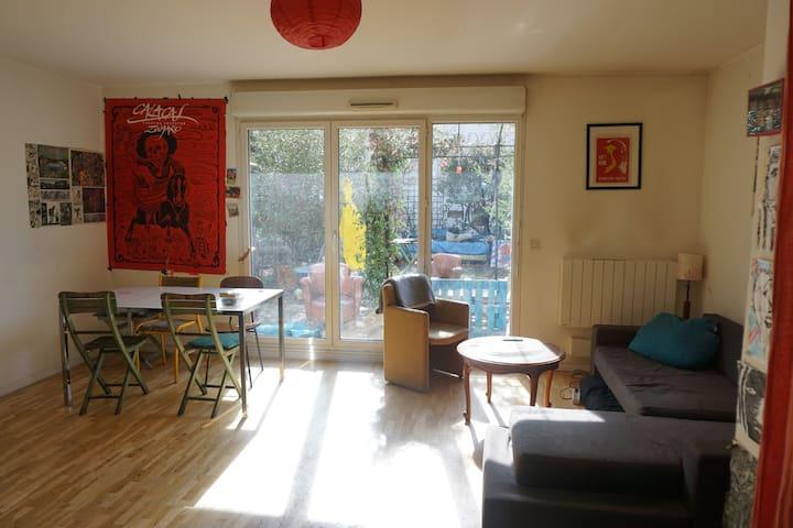 Cute flat, central Paris in 20 mins - Aubervilliers