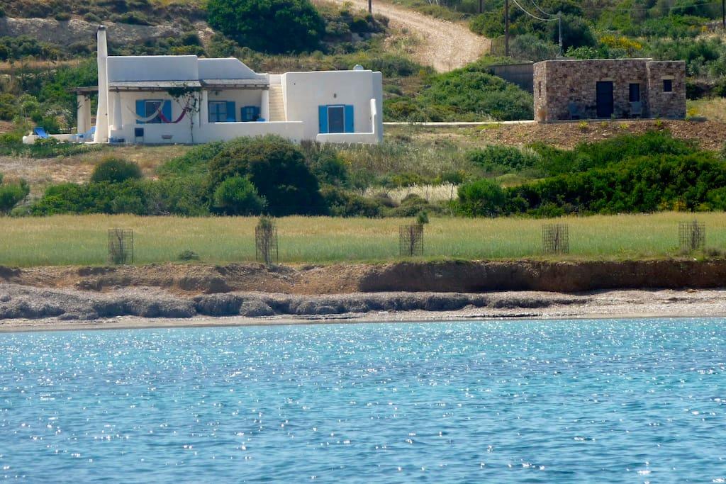 Les maisons vues de la mer