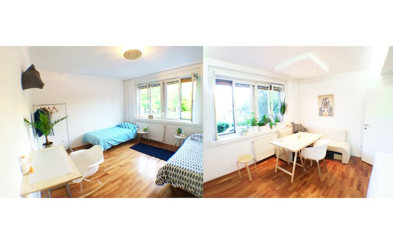 Bright Zen Central Studio (Free bikes and parking) - Ljubljana - Huoneisto