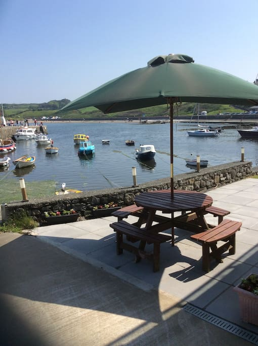 Your seating area on the edge of the harbour