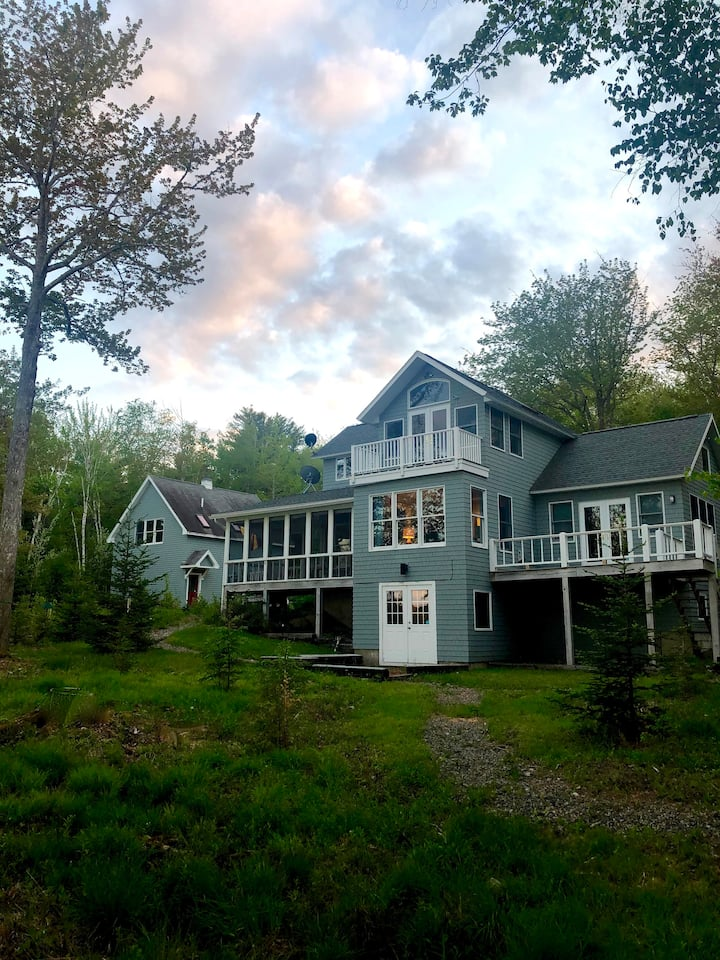 Enchanting waterfront summer home on 15 acres..