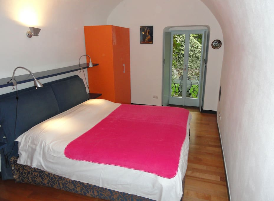 double bedroom with guardrobes. Direct access to the garden.