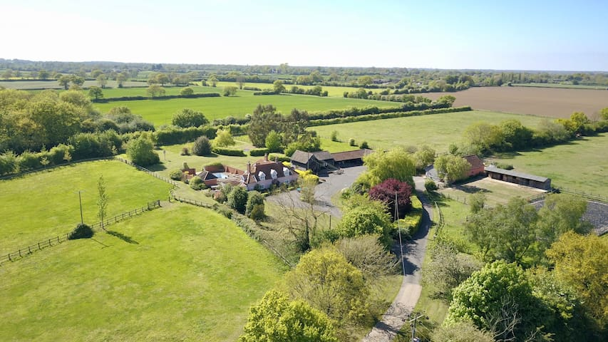 Paddock Barn farm location near Woodbridge Suffolk