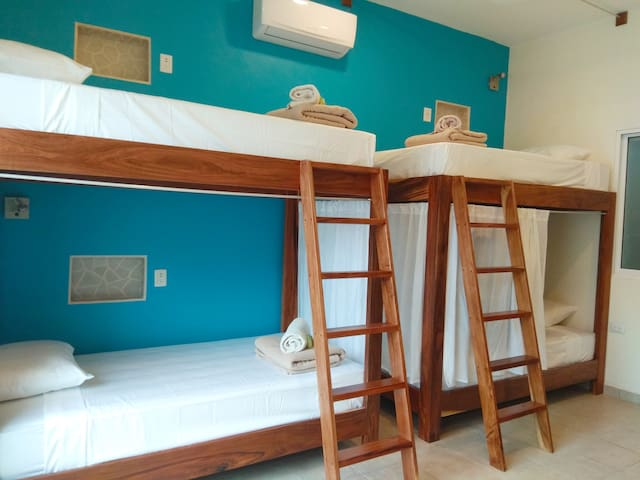 La Palmita: Private Bed in Shared Suite Downtown