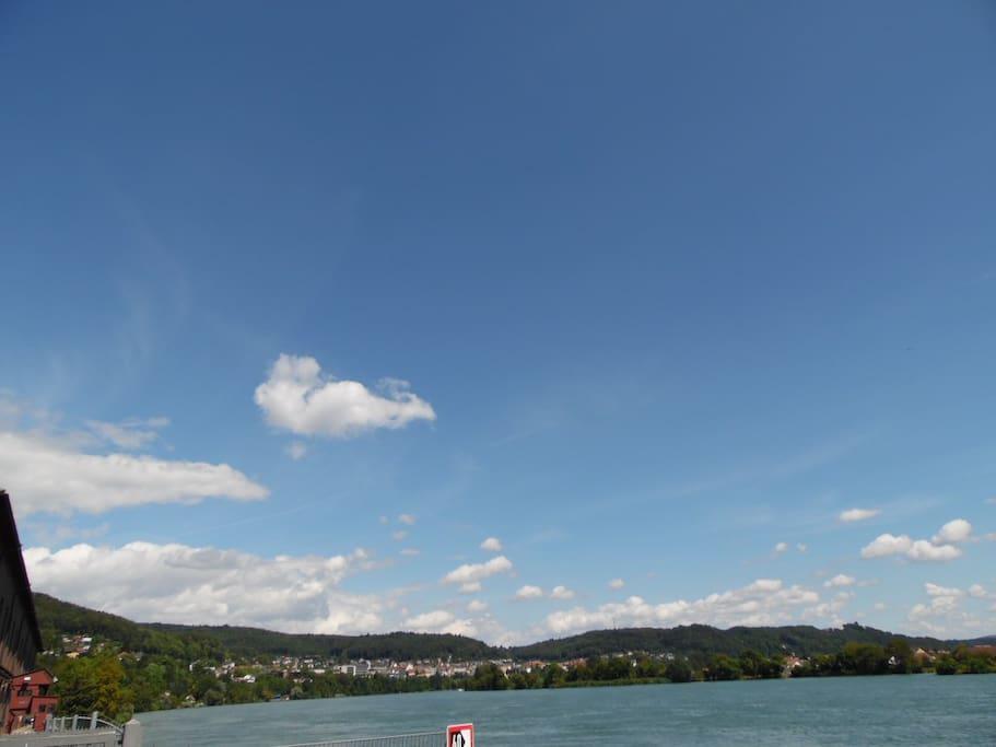 Rhein, Blickrichtung Waldshut