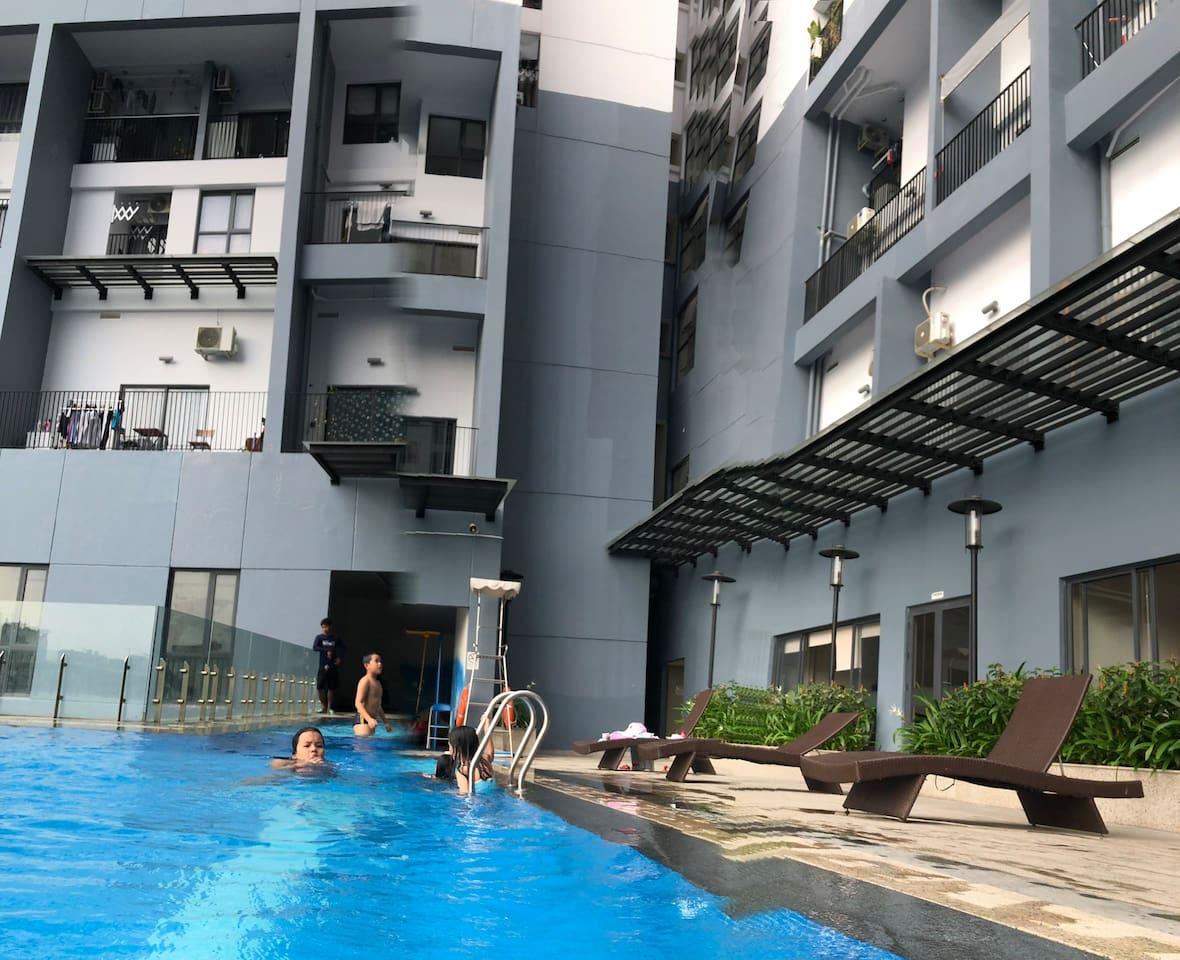 Free pool n gym at T1B block 3rd floor