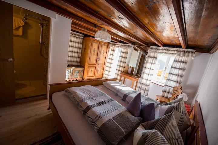 Grandiose Aussicht  im rustikalen Privatzimmer