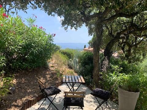 Appart. 4 pers. Superbe vue Golfe St-Tropez