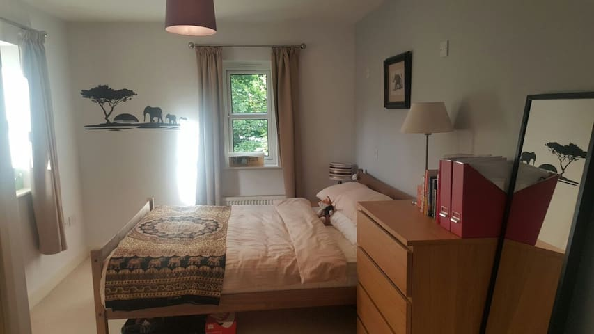 Double room with en suite 5 mins walk to airshow - Farnborough - Apartamento