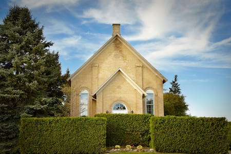 1869 charming, yellow brick church - Hamilton Division
