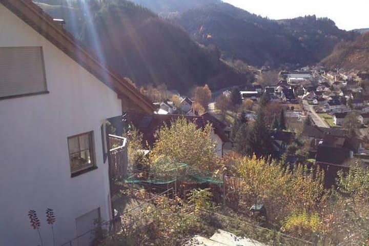 Schöne Ferienwohnung mit wunderbarer Aussicht auf Zell im Wiesental (im Schwarzwald)