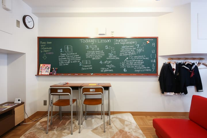 Akihabara Highschool Studio!Free portable WiFi/EM1 - Chiyoda-ku - Appartement