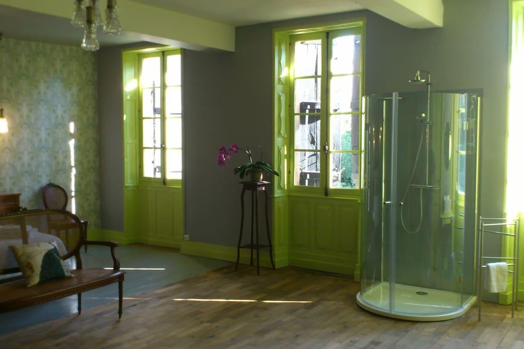 Chambre Kew Garden salle d'eau ouverte