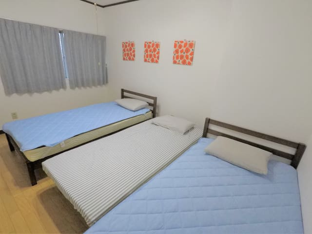 PRIVATE TRIPLE room in Tokushima center