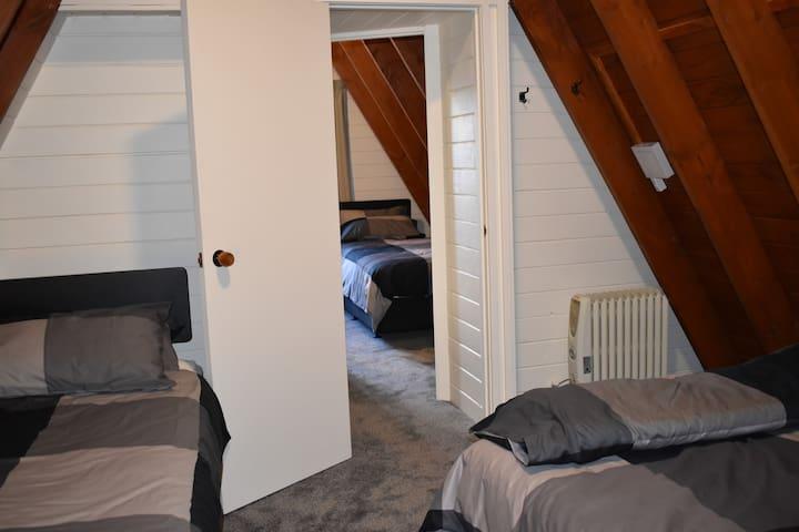 Rear bedroom - sleeps 3