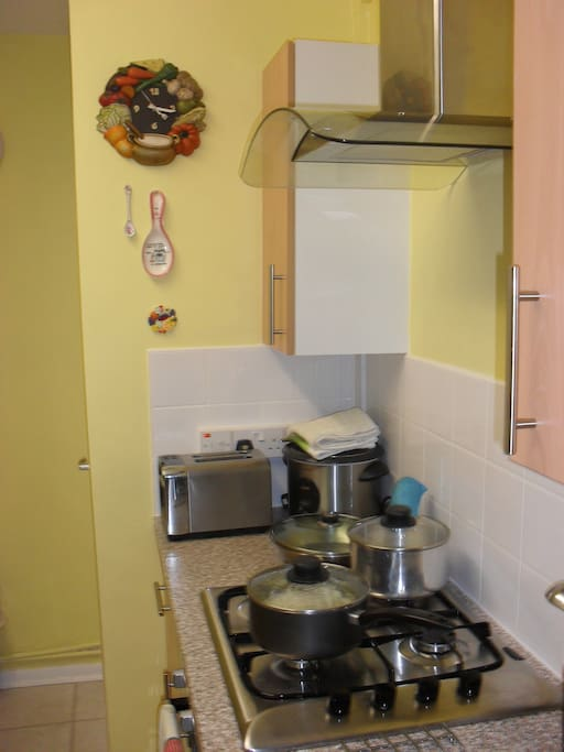Clean kitchen with serving facitlities