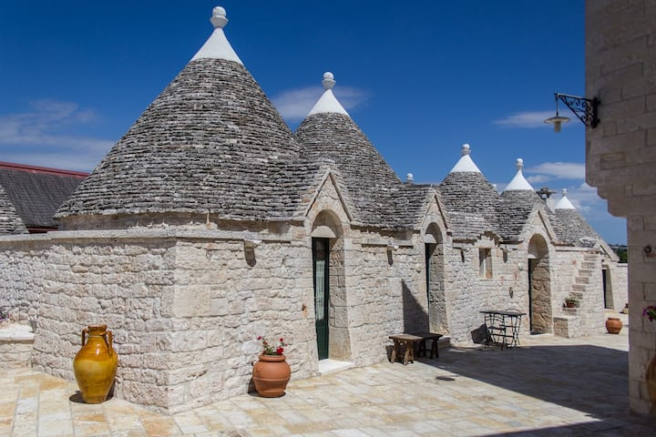 Trulli with pool in an old farm