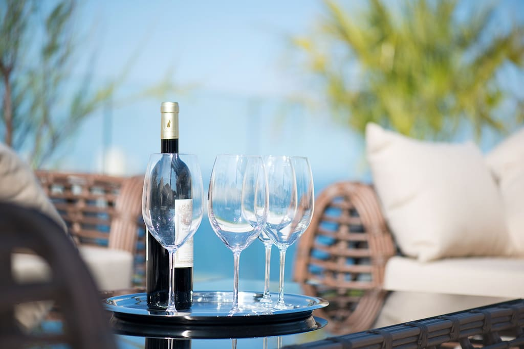 French wine on a terrace on a sunny day - is there anything better?